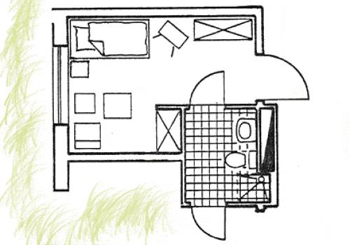 Grundriss Zimmer Neubau