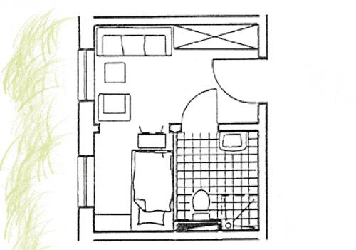 Grundriss Zimmer Altbau