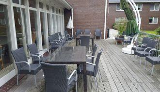 Sitzbereich auf der Terrasse